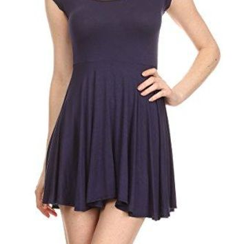 iconic luxe Womens ALine Fit and Flare Mini Dress