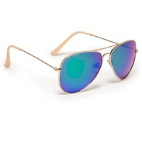 Mirrored Metal Aviators
