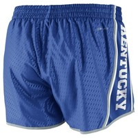 Nike Kentucky Wildcats Womens Chainmaille Pacer Performance Shorts - Royal Blue