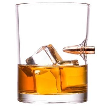 Creative Bullet Whisky Bar Wine Glasses Glass Cup Crystal Bullet Vodka Shot Wine Glass Hand-blown Shot Glass Novelty Cups