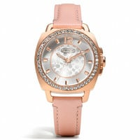 mini boyfriend breast cancer awareness small strap watch