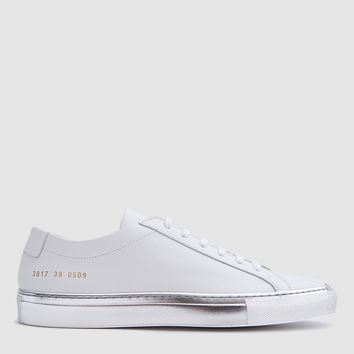 Woman by Common Projects / Achilles Low with Colored Sole in White/Silver