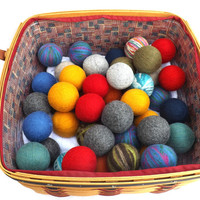 Wool Dryer Balls - Mix & Match Randomly Selected 3 or 6 - Felted Wool Laundry Balls - Eco-Friendly Dryer Balls - Green Laundry Balls -