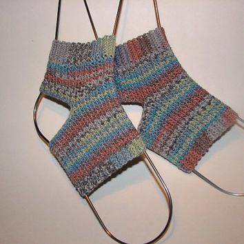 Milagro: Custom Made, Lightweight Yoga Socks crocheted in a variety of yarns, great for dance, exercise