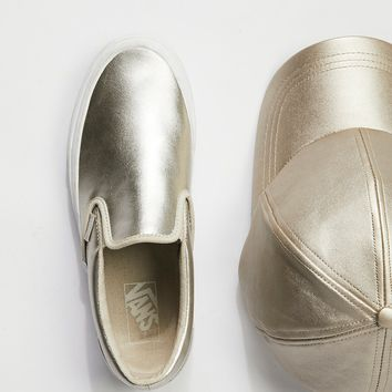 Free People Metallic Classic Slip-On