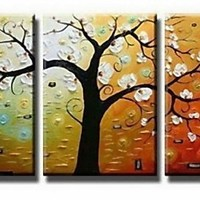 Phoenix Decor-Abstract Canvas Wall Art Oil Paintings on Canvas for Home Decoration Modern Painting Wall Decor Stretched Ready to Hang 3 Piece Canvas Art Set(12X16inchx3pcs)