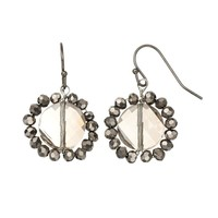 Simply Vera Vera Wang Bead Drop Earrings (Black)