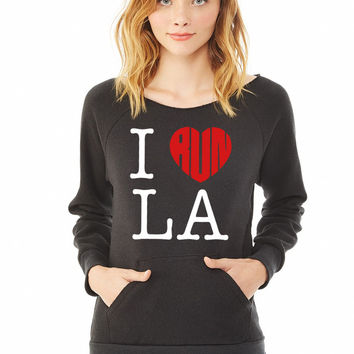 I Run LA ladies sweatshirt