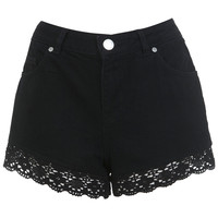 Black Lace Hem Short - View All - New In - Miss Selfridge
