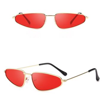 Leon Metal Vintage Sunglasses - Red