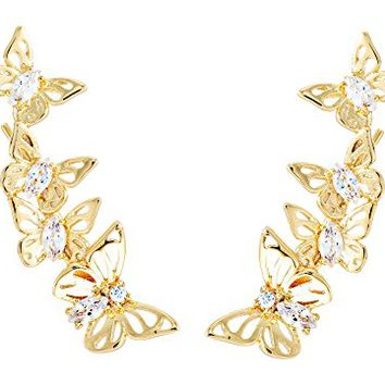 Kate Spade New York Social Butterfly Ear Pin Earrings