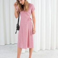Floral Printed Wrap Dress - Micro flower - Wrap dresses - & Other Stories US