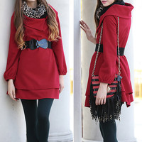 Pullover women coat winter cape coat oversize top cloak long cape dress BJ54,s,m,l,xl,xxl