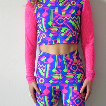Fresh Prince Crop Top w. Long Sleeves