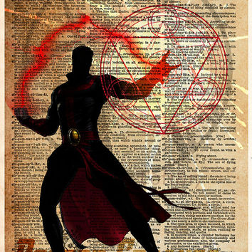 Doctor Strange, Superhero print, superhero decor, kids room art, nerdy art