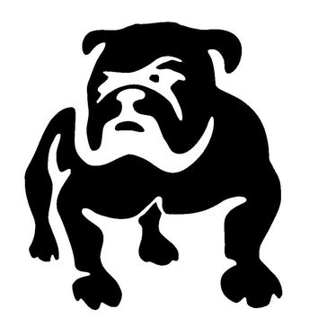 Cute Bulldog Puppy JDM Car Sticker Auto Window Fuel Tank Cap Auto Door  Motorcycle Lovely Laptop Decorative Decals Vinyl
