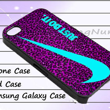 Just Do It Leopard iphone 4/4S, iPhone 5/5S/5C, Samsung Galaxy S3/S4, iPod Touch 4/5, htc Case