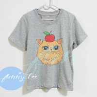 Cute dog shirt Apple Persian dog Crew neck sweatshirt Short sleeve tee shirts+off white or grey toddlers shirt +kids girl boy clothes