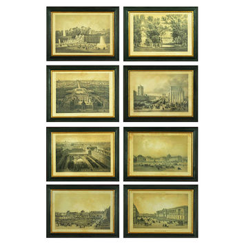 Chic French Country Art, Set of Eight, Paintings