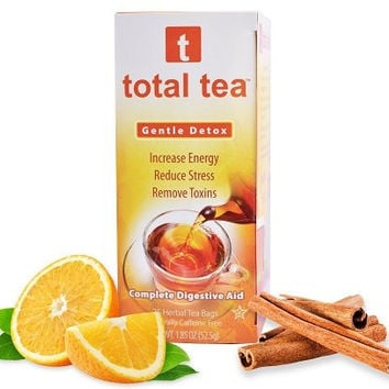 Total Tea Gentle Detox Tea: 25 Sealed Teabags | Helps Bloating and Constipation | 100% Natural Appetite Suppressant | Slimming Colon Cleanse Support |...