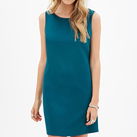 FOREVER 21 Lace-Back Shift Dress Jade