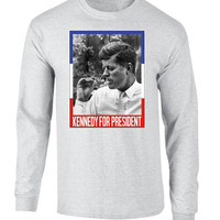 'JFK for President' Long Sleeve Tee