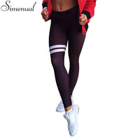 New arrival autumn leggings for women elastic slim push up fitness striped legging activewear athleisure sexy black jeggings hot