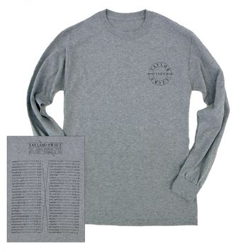 Grey Long Sleeve 1989 Tour Tee