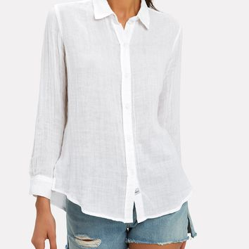 Sydney White Button Down Shirt