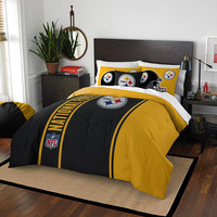 Pittsburgh Steelers NFL Full Comforter Set (Soft & Cozy) (76 x 86)