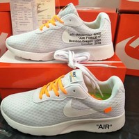 """""""OFF-White x Nike TANJUN"""" Unisex Sport Casual Fashion Mesh Breathable Light Running Shoes Couple Sneakers"""