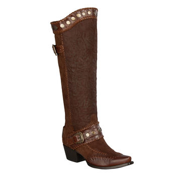 Double D Ranch Boots - Oregon Trail Brown