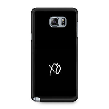 Xo The Weeknd Text Samsung Galaxy Note 5 Case