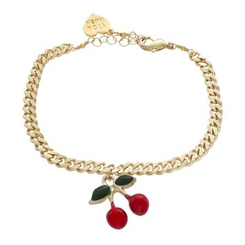 Cherry Charm Anklet