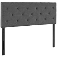 Gray Terisa King Fabric Headboard