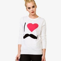 I Heart Mustaches Sweater