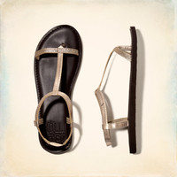 Shine Faux Leather Sandals