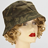 Bucket Hats Casual Cotton Cameo Olive Green