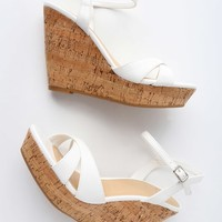 Nixie White Wedge Sandals