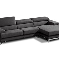 Divani Casa Coburn - Modern Fabric Sectional Sofa