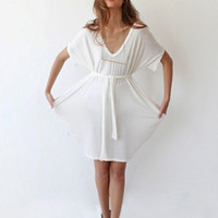 Oversize mini knitted tunic dress