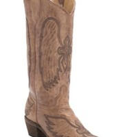 Corral Circle G Women's Cognac Winged Cross Embroidered Snip Toe Western Boots