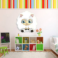 kcik506 Full Color Wall decal cute sheep animal children's bedroom