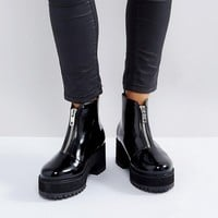 ASOS RANKIN Wide Fit Zip Front Ankle Boots at asos.com