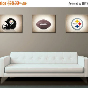 Weekend Sale Discount Set Of 3 Pittsburgh Steelers Photo Print,b