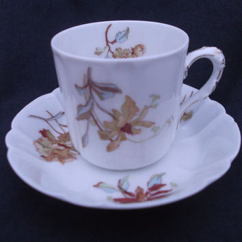 Haviland Limoges Antique Coffee Cup & Saucer c1876 - 1886