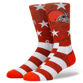 Cleveland Browns Stars & Stripes Mens Socks