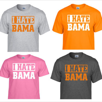 UNIVERSITY OF TENNESSEE volunteers vols big orange t shirt i hate bama