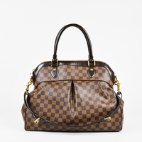 "Louis Vuitton Brown Damier Ebene Coated Canvas ""Trevi MM"" Satchel Bag"