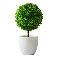 Artificial plants ball bonsai can washes decorative green plants for home decoration( plants+vase) 4 Colors